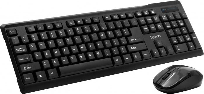 "KIT wireless SPACER, tastatura wireless + mouse wireless, black, ""SPDS-1100"" (include TV 0.75 lei)"