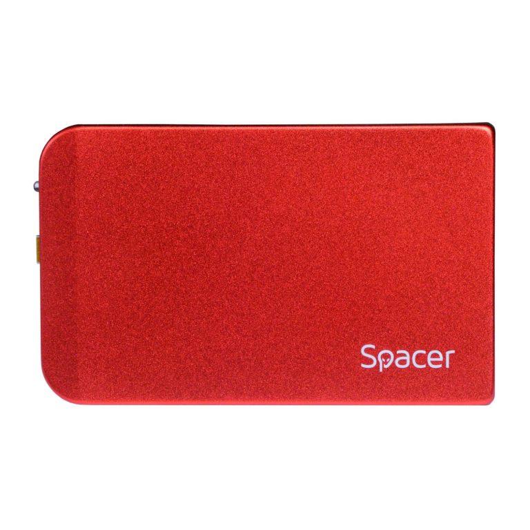 "RACK extern SPACER, pt HDD/SSD, 2.5 inch, S-ATA, interfata PC USB 3.0, aluminiu, rosu, ""SPR-25611R"""