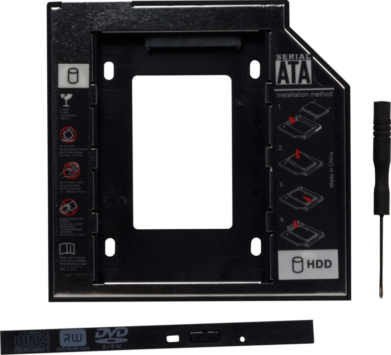 "RACK intern SPACER, tip caddy 9.5mm, 5.25 inch la 2.5 inch, S-ATA, interfata PC S-ATA, metal, negru, ""SPR-25DVDI"""