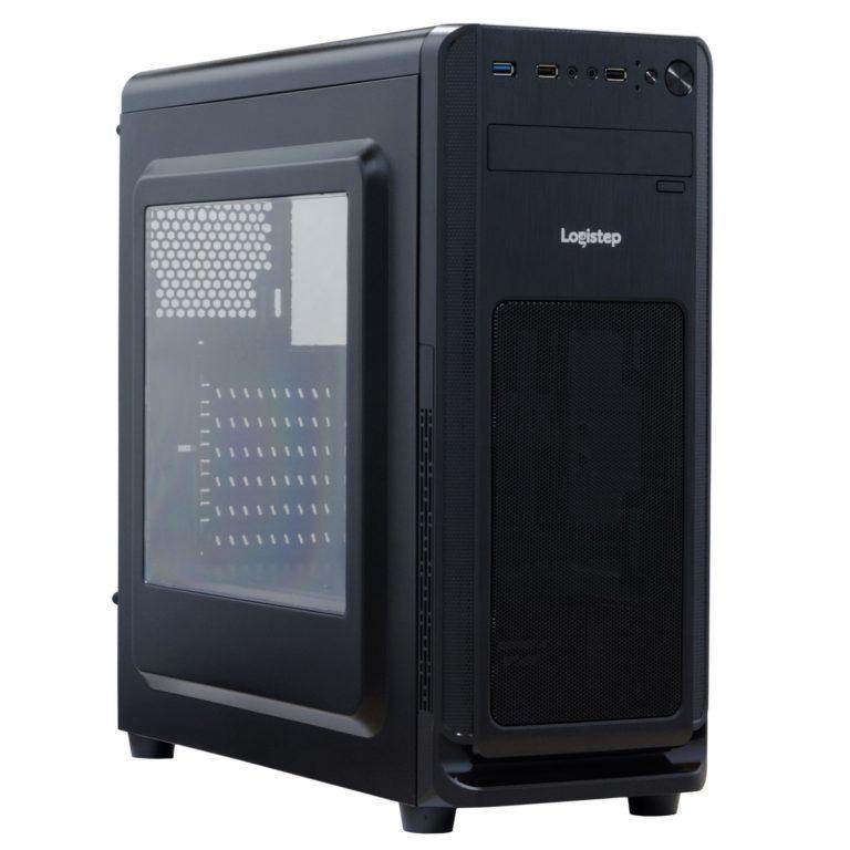 "CARCASA SPACER – gaming, Middle Tower, ATX, , fara sursa, plexiglas transparent, USB 2.0 x 2, USB 3.0 x 1, Jack 3.5mm x 2, mesh , ""SP-GC-02"""