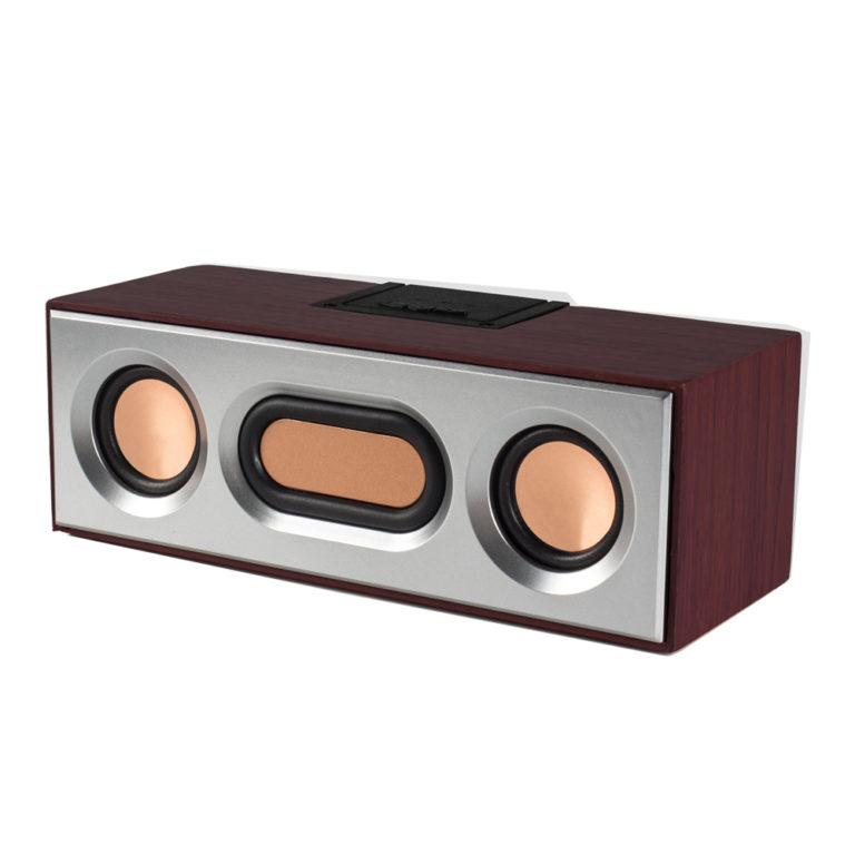 "BOXA SPACER portabila bluetooth, RMS: 2 x 3W, RETRO, control volum, acumulator 1200mAh, distanta de functionare pana la 10m, incarcare USB, USB/slot microSD/AUX/FM, brown, "" SPB-E362-BT "" (include TV 0.75 lei)"