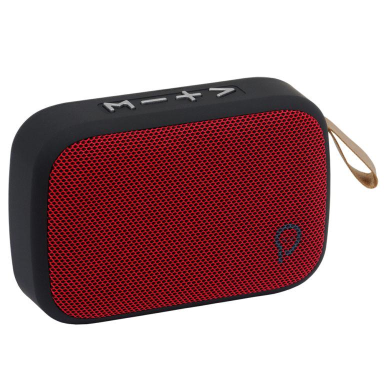 """BOXA SPACER portabila bluetooth, POCKET-RED, RMS: 3W, control volum, acumulator 520mAh, timp de functionare pana la 5 ore, distanta de functionare pana la 10m, incarcare USB, RED, """"SPB-POCKET-RED"""" (include TV 0.15 lei)"""