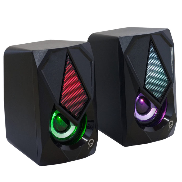 """BOXE SPACER Gaming 2.0, RMS: 6W (2 x 3W), control volum, 4 x LED, USB power, black, """"SPB-STORM"""" (include TV 1.5 lei)"""