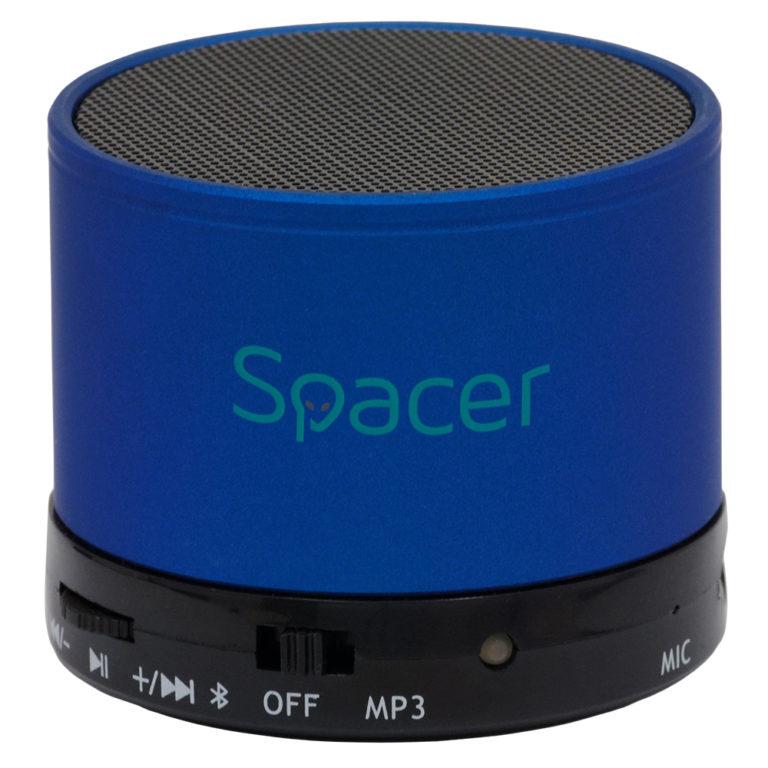 "BOXA SPACER portabila bluetooth TOPPER, RMS: 3W, control volum, acumulator 520mAh, timp de functionare pana la 5 ore, distanta de functionare pana la 10m, incarcare USB, BLUE, ""SPB-TOPPER-BLU"" (include TV 0.15 lei)"