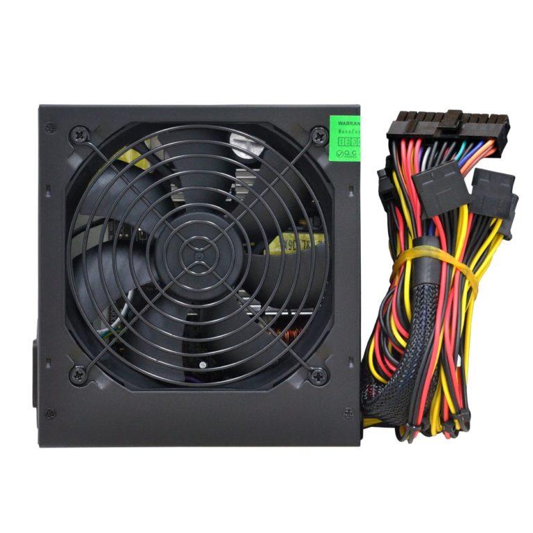 "SURSA SPACER 550 (300W for 550W Desktop PC), fan 120mm, PFC activ, protectii SCP/OPP/OTP/OVP/UVP, 1x PCI-E (6+2), 3x SATA, 1x EPS (4+4), retail box, ""SPS-ATX-550"", (include TV 1,5 lei)"