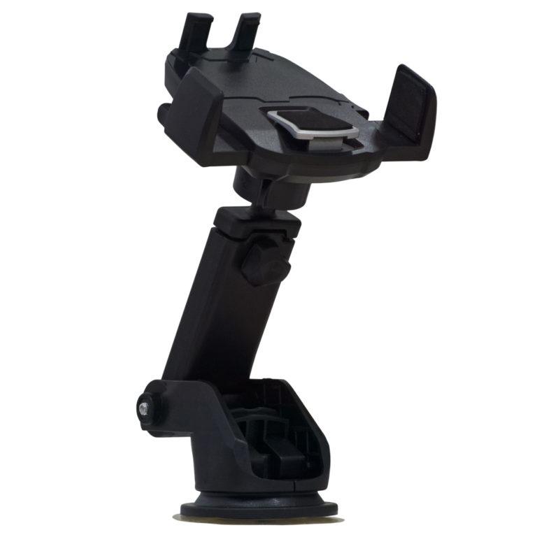 "SUPORT auto SPACER pt. SmartPhone, fixare pe bord sau geam, cu ventuza, brat telescopic, sistem auto-lock, rotire 360 grade, negru, ""SPT-UCH"""