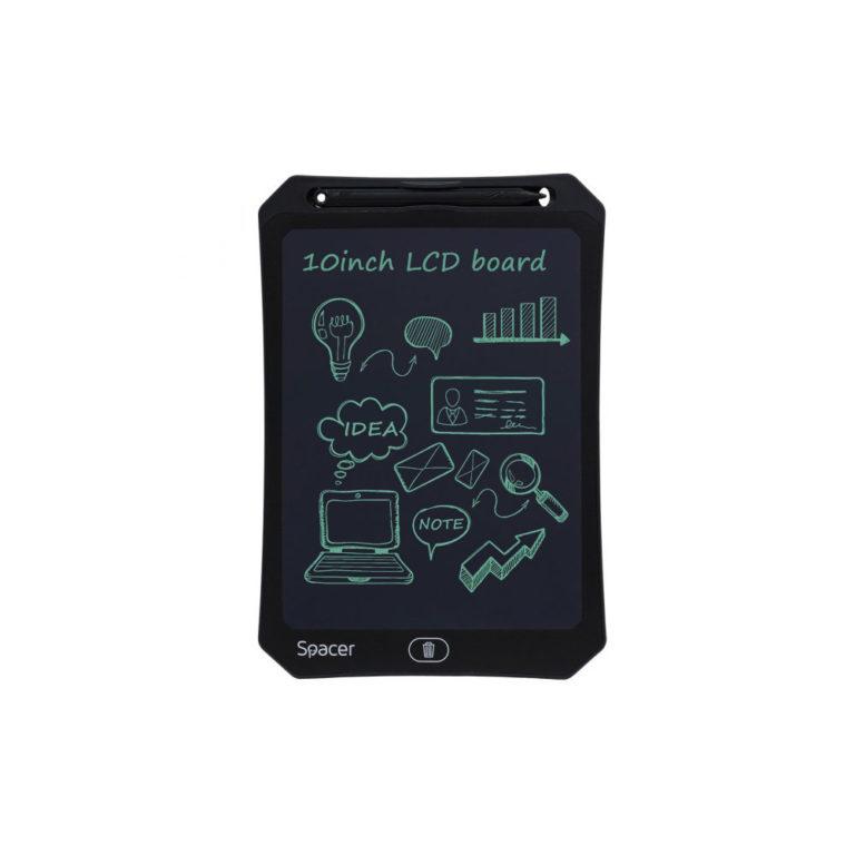 "TABLETA LED SPACER pentru scris si desenat, interactiva, e-learning, 10 display, black, baterie CR2025 ""SPTB-LED-10"" (include TV 0.75 lei)"