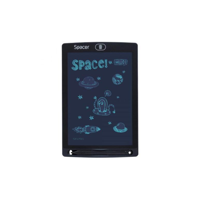 "TABLETA LED SPACER pentru scris si desenat, interactiva, e-learning, 8.5 display, black, baterie CR1220 ""SPTB-LED"" (include TV 0.75 lei)"