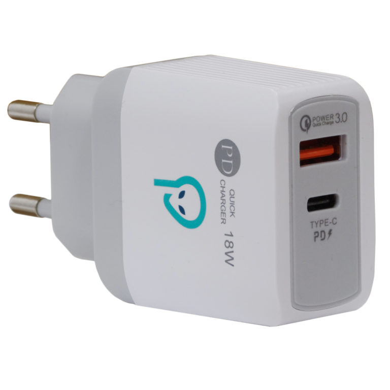 "INCARCATOR retea SPACER Quick Charge 18W, USB Type-C + USB ""SPAR-DUOQ-01"""