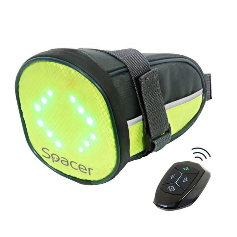 "GEANTA reflectorizanta SPACER pentru Bicicleta, cu semnalizare LED prin telecomanda si de montat la sa, ""SPBB-LEDSign"""