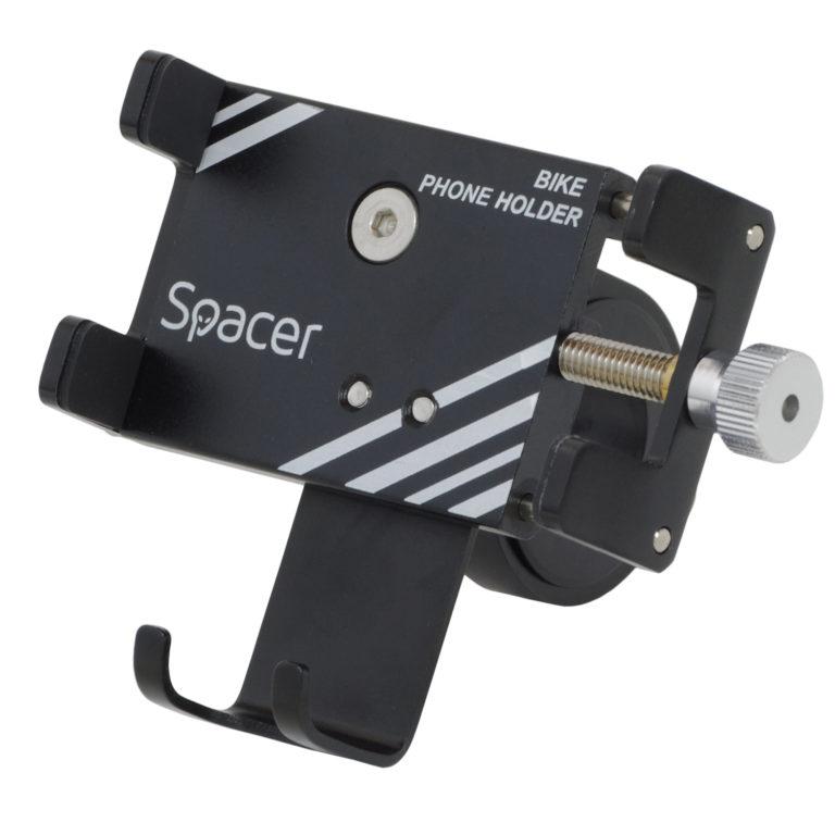 "SUPORT Bicicleta SPACER pt. SmartPhone, fixare de ghidon, Metalic, black, cheie de montare, ""SPBH-METAL-BK"""