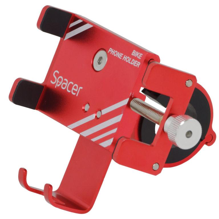 "SUPORT Bicicleta SPACER pt. SmartPhone, fixare de ghidon, Metalic, rosu, cheie de montare, ""SPBH-METAL-RED"""