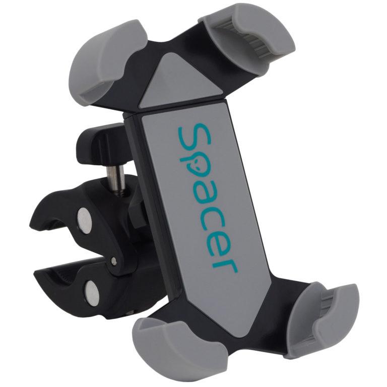 "SUPORT Bicicleta SPACER pt SmartPhone, Multi-Purpose, fixare de bare de diferite dimensiuni, Negru, ""SPBH-MP-01"""
