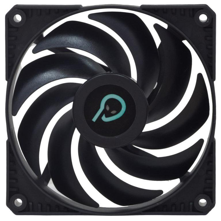 "VENTILATOR SPACER PC 120x120x25 mm, Hydraulic Bearing, 45CFM, conector 3-pin, no LED, black ""SPFC-120-3P"""
