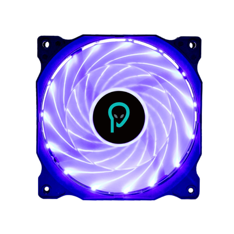 "VENTILATOR SPACER PC Silent 120x120x25 mm, BLUE light, Hydraulic Bearing, 34CFM, conector 3-pin ""SPFC-120-3P-BL"""