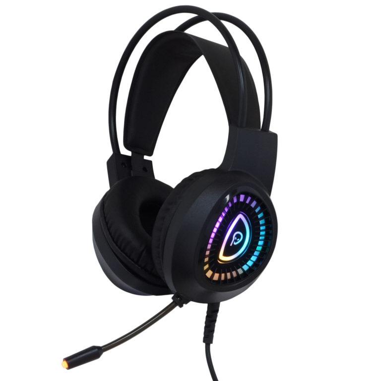 "CASTI gaming Spacer RGB, cu fir, standard, utilizare gaming, microfon pe brat, conectare prin USB & Jack 3.5 mm x 2, iluminare RGB, negru, ""SPGH-PHANTOM"", (include TV 0.75 lei)"